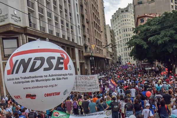 a5cfec806 Municipais de SP em greve pela revogação da reforma da Previdência do  Município